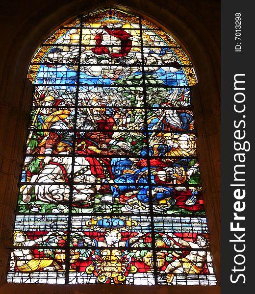 Sevilla s gothic glazed window