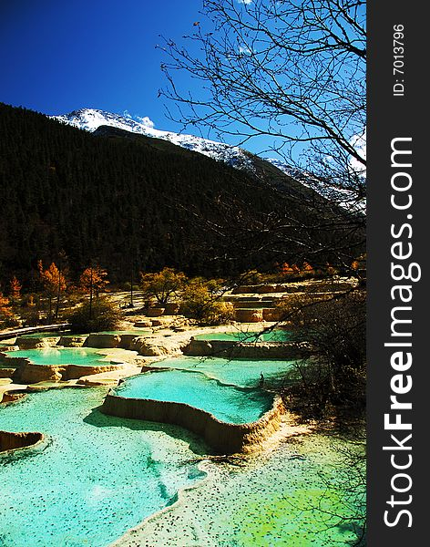 Miniscape ponds in Huanglong