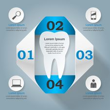 Free Abstract 3D Digital Illustration Infographic. Tooth Icon. Stock Images - 70124374