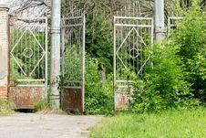 Free Old Stadium Gate Royalty Free Stock Images - 70171249