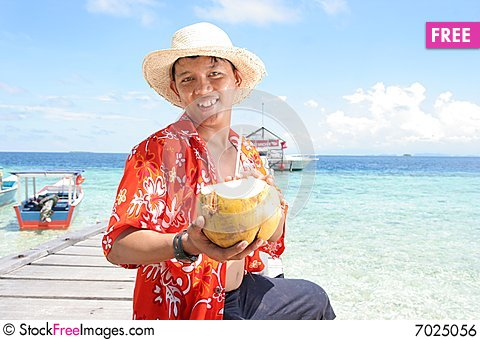 Free Welcome At Tropical Beach Royalty Free Stock Image - 7025056