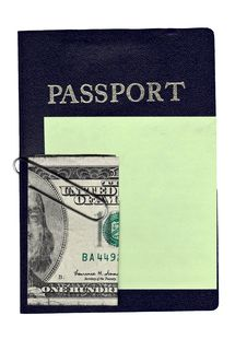 Free Passport Money And Sticky Note Stock Photos - 7020243