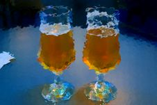 Free Two Glasses Of Beer Stock Photography - 7020362