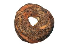 Bagel With Poppy Seeds. Stock Photography