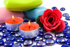 Free Colourful Soap And Aroma Rose Stock Photos - 7020683