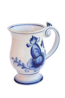 Mug Gzhel Stock Image