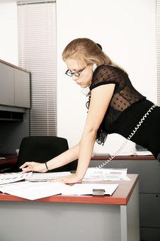 Free Multitasking In Office Stock Image - 7020851