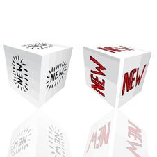 New 3D Boxes Stock Photography