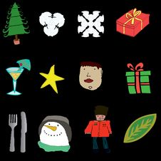 Free Christmas Icons Stock Photo - 7020930