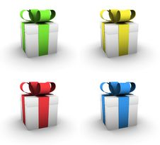 Free Four Small Gift Boxes Stock Image - 7020961