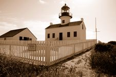 Cabrillo Lighthouse Stock Image
