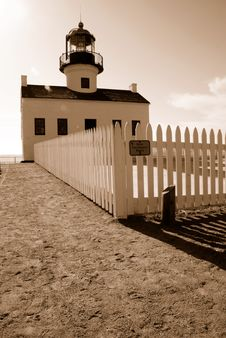 Cabrillo Lighthouse 2 Royalty Free Stock Photos