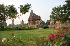 Temple In Khajuraho. Royalty Free Stock Photos