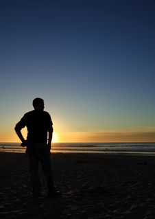 Free Man Admiring The Sunset Royalty Free Stock Image - 7021206