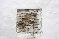 Free White Wall With Bricks Stock Photography - 7021822