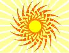 Free Yellow Sun. Royalty Free Stock Images - 7021939