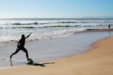 Free Beach Soccer Royalty Free Stock Images - 7022589