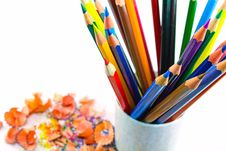 Free Pencils In Container Stock Photography - 7022612