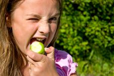 Free Girl With Apple Stock Photo - 7022620