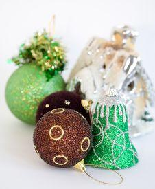 Free Christmas Tree Toys On White Background Royalty Free Stock Photos - 7022928