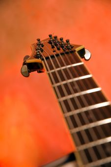 Free Close-up Of The Top Of A Black Electric Guitar Stock Photo - 7023680