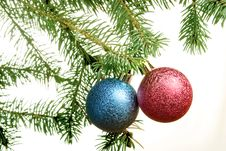 Free New Year. Christmas. Tree Decoration. Stock Photos - 7024233