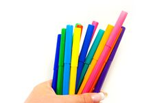 Free Multicolored Highlighters Royalty Free Stock Photo - 7024745