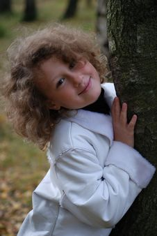 Free Little Girl In A Park Stock Photo - 7025330