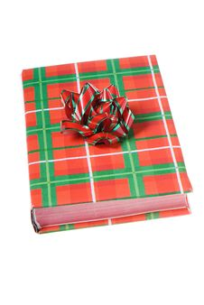 Free Book Christmas Colors Red Green Bow Stock Photos - 7026083