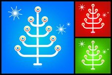 Free Modern Stylized Christmas Tree Royalty Free Stock Images - 7026109