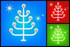 Free Modern Stylized Christmas Tree Royalty Free Stock Images - 7026109