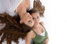 Free Close Up View Young Two Cute Friends Royalty Free Stock Images - 7026159