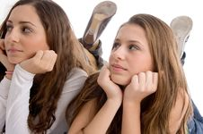Free Close Up View Young Two Cute Friends Stock Photo - 7026170