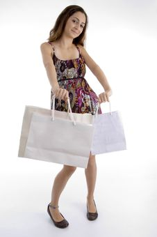 Free Pretty Woman With Shopping Bag Royalty Free Stock Photos - 7026748