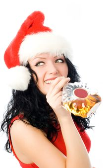 Free Beautiful Brunette Woman Drinking Cognac Stock Photos - 7026773