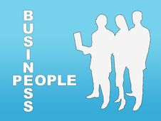 Free Business People Silhouettes Stock Images - 7027394