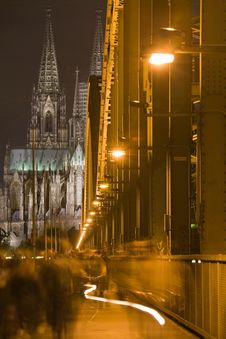 Free Dom In Cologne At Night Lighting Stock Image - 7027991