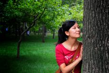 Free A Woman With A Tree Stock Images - 7028014
