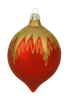 Free Isolated Red Christmastree Ornament Stock Photo - 7028300