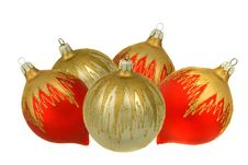 Free Isolated Red And Silver Christmastree Ornaments Stock Photography - 7028312