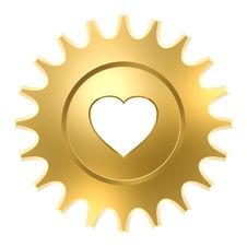 Free Golden Heart Gear Stock Photography - 7028532