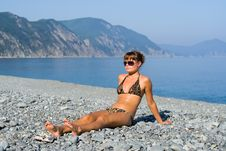 Free Girl At Seabeach 1 Royalty Free Stock Images - 7028539