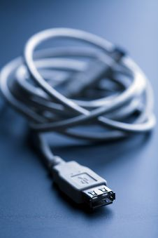 Free Usb Cable Toned Blue Stock Photography - 7029162