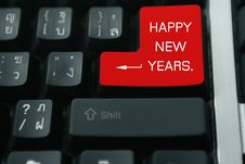 Free Keyboard Happy New Year Stock Images - 7029234