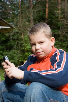 Free Teenager With A Mobile Phone Stock Photos - 7029823
