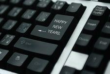 Free Keyboard Happy New Year Stock Photo - 7029970