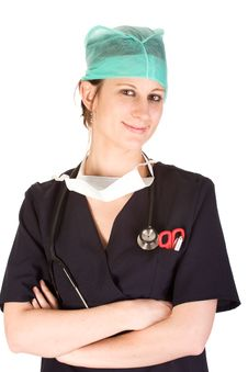 Free Young Caucasian Female Healthcare Professional Stock Photography - 7029992