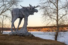 Free Stone Elk Stock Image - 70297251