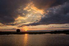 Free Sunrise On The Lake Royalty Free Stock Image - 70297466