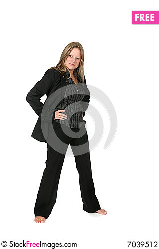Free Professional Woman With Legs Spread Apart Stock Photography - 7039512